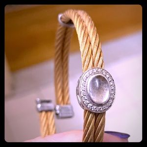 Charriol rose cable bracelet with diamond accents